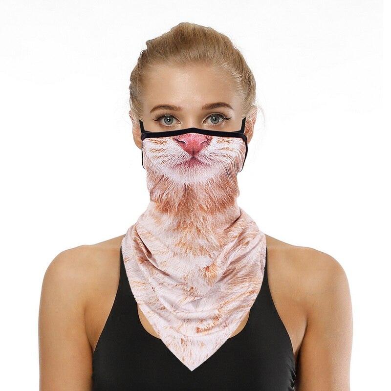 Apparel - Multi-function Outdoor Headscarf Animal Print Variety Face Over Headband Neck Bandanas Men Women