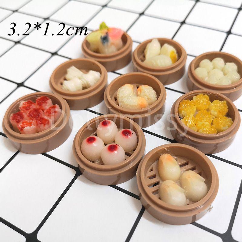 Set of 6 Dim Sum Chinese Cuisine Handmade Dollhouse Miniatures Food Deco 3