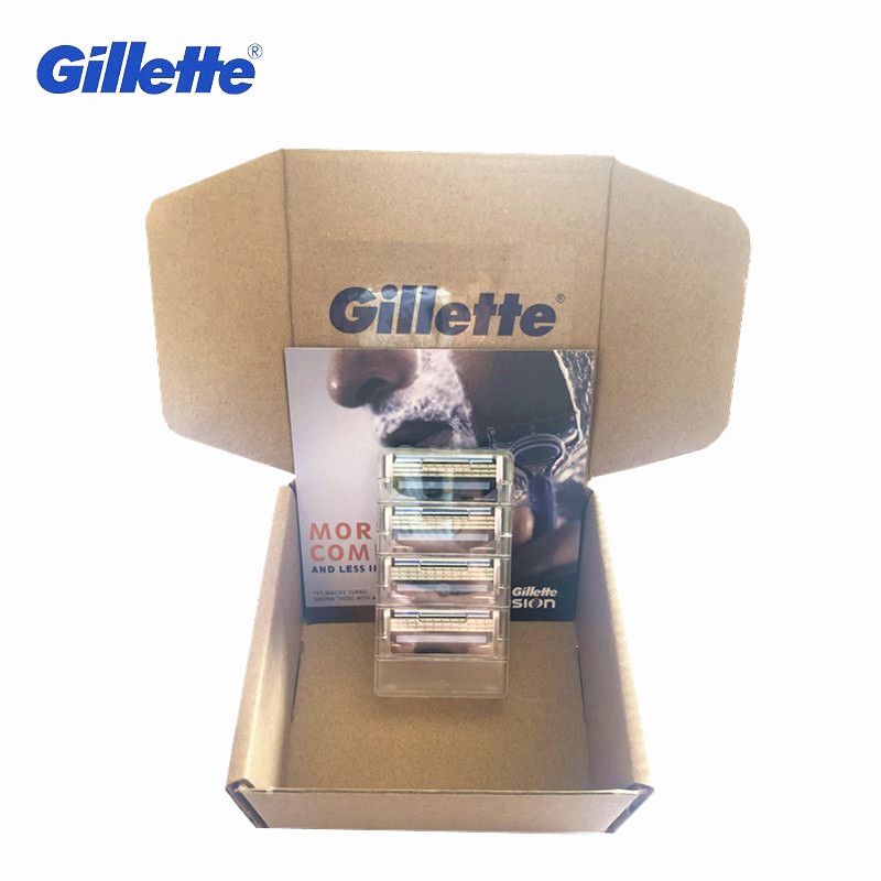 Original Gillette Mach 3 Blade Shaving 4 Pcs Cassettes Shaving Mak3 Shaving Cartridge Mach3 Replaceable Razor Blades For Men
