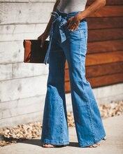 SZMALL Fashion  Pop Wide Leg Long Jeans For Women High Waist Denim Flare Trousers Female stylish Streetwear Lady Jeans