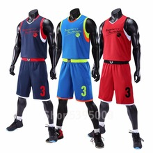 цена на College Basketball Jerseys with Shorts 2019 Custom Men Blank College Youth Basketball Sets Kits Suits Youth Jersey University
