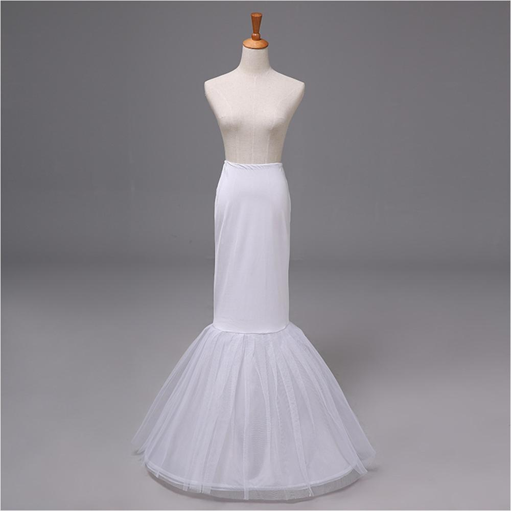 12009 Hot Sales In Stock Cheap Long Petticoat 3 Hoop 2 Layer Mermaid Wedding Accessories Dress Underskirt