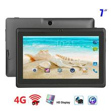 Q88 Tablet 4G Mini tableta de la tableta de 7 pulgadas 4GB ROM Android 4,4 Quad Core Q88 cojín para niños digitalizador de Panel de pantalla táctil de la tableta de 7 pulgadas