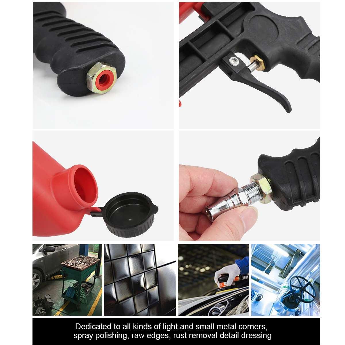 Image 2 - 90psi Portable Gravity Sandblasting Guns Aluminium Pneumatic Sandblaster Spray Guns Sand Removal Blasting Power MachineSpray Guns   -