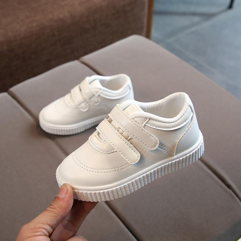 Child Casual White Shoes Spring Fashion Girls Boys Sport Shoes Children Running Shoes Kids Martin Boots Child Shell Sneakers