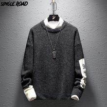 SingleRoad толстый мужской свитер 2019 Зимняя шерстяная одежда вязаный пуловер кашемировые свитера мужской свободный модный джемпер высокого качества