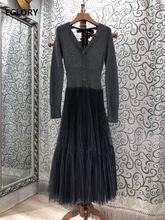 Цельнокроеное платье свитер сезона осень зима 2020 женское привлекательное