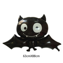 5 pcs New Black Vampire Bat Aluminum Film Balloons Halloween Ghost Festival Party Decoration Venue Supplies