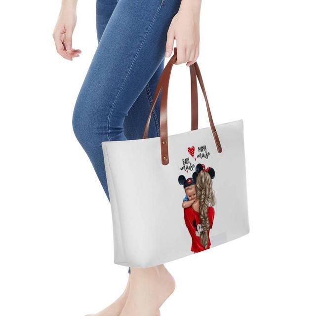 WHEREISART Women Bags Handbags 2019 Famous Brands African Beach Bag Bolsa Feminina Afro Black Girls Tote Bags PU leather Purse 5
