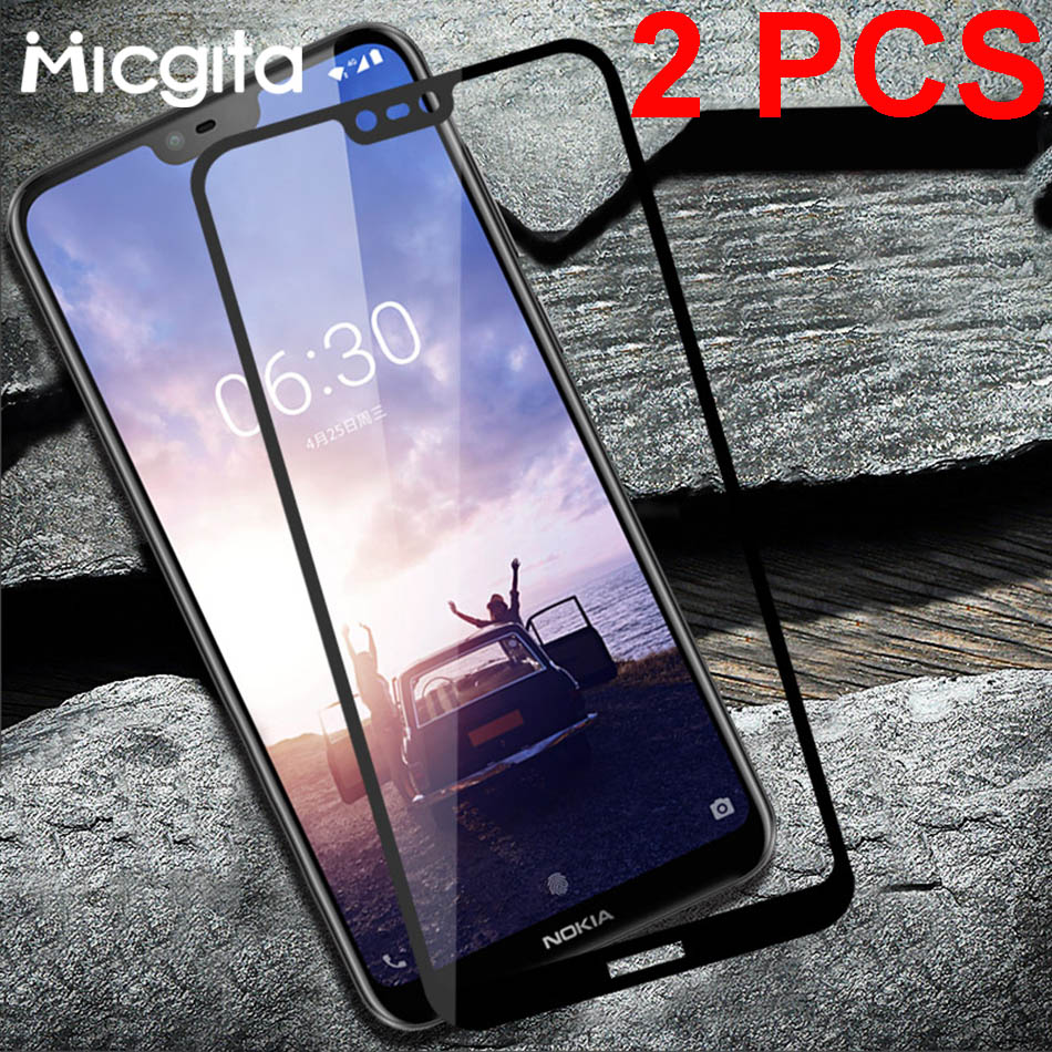 2 Pcs Tempered Glass For Nokia X6 X3 X5 X7 Nokia 5 6 7 8  2 3 Screen Protector Protective Glass For Nokia 7 Plus Film