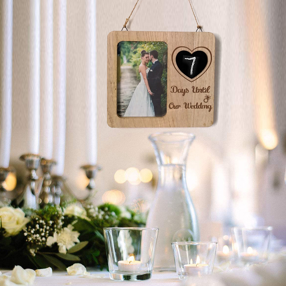 Hot Wooden Photo Frame DIY Picture Frames Rustic Wedding Decor Home Wall  Hanging Decoration Photo Frame Engagement Anniversary G|Frame| - AliExpress