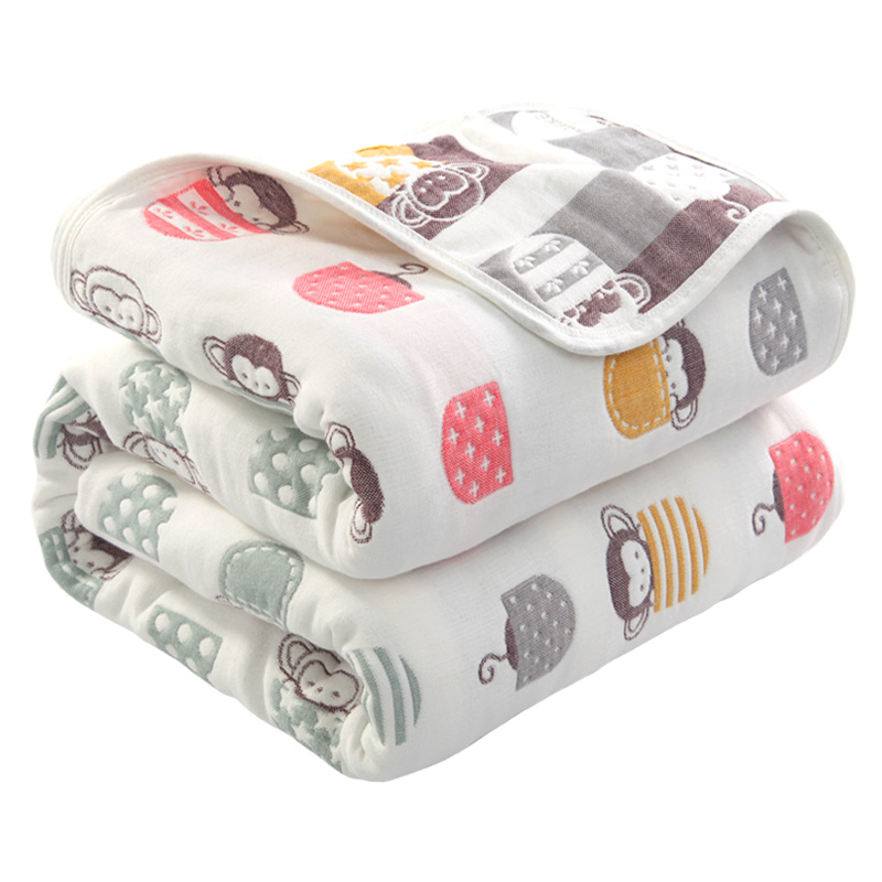 100% Cotton Baby Blankets Baby Soft Swaddling Baby Warp Swaddle Infant Bedding Receiving Blankets Baby Bath 90*100cm 6 Layers
