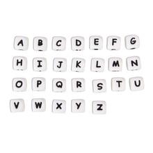 * 500 шт. силиконовые бусины с буквами, без БФА, Детские Прорезыватели с английским алфавитом, бусины для прорезывания зубов, для изготовления соски на цепочке, с индивидуальным именем
