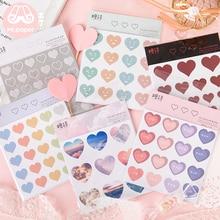 Mr.paper 6 Designs 2Pcs/pack Colorful Heartbeat Deco Stickers Scrapbooking Bullet Journal Popular Stationery Children Stickers татуировка переводная heartbeat