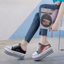Ladies vulcanized shoes fashion canvas shoes