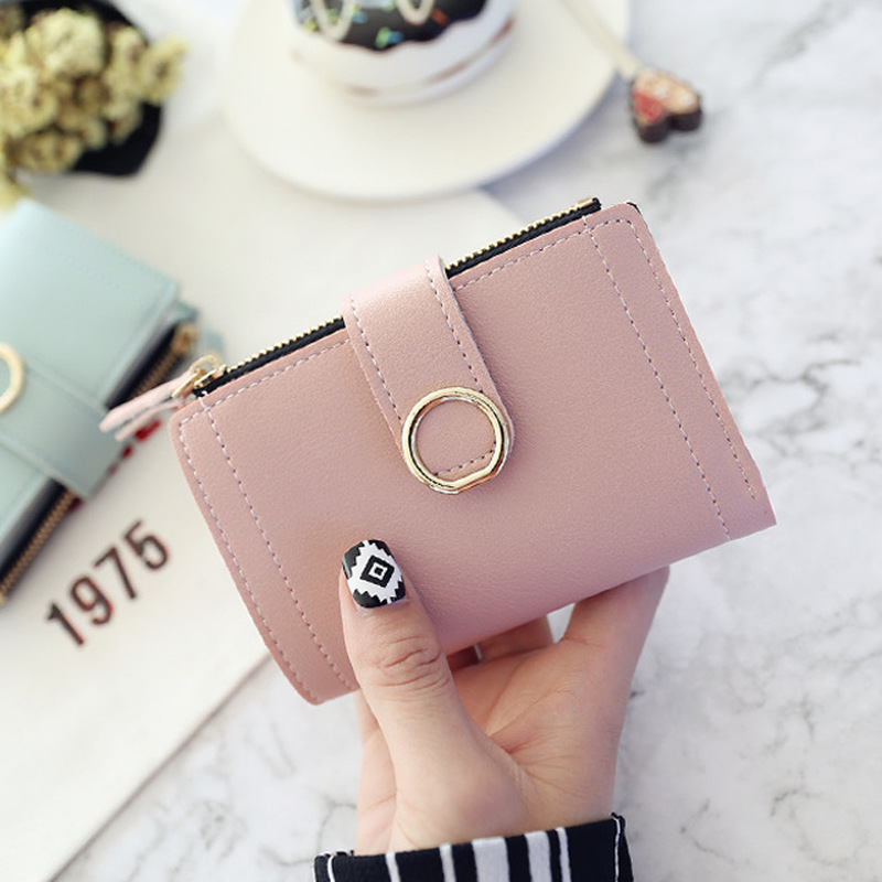 Women Leather Small Wallets Card Bag for Women Clutch Purse Money Clip Wallet