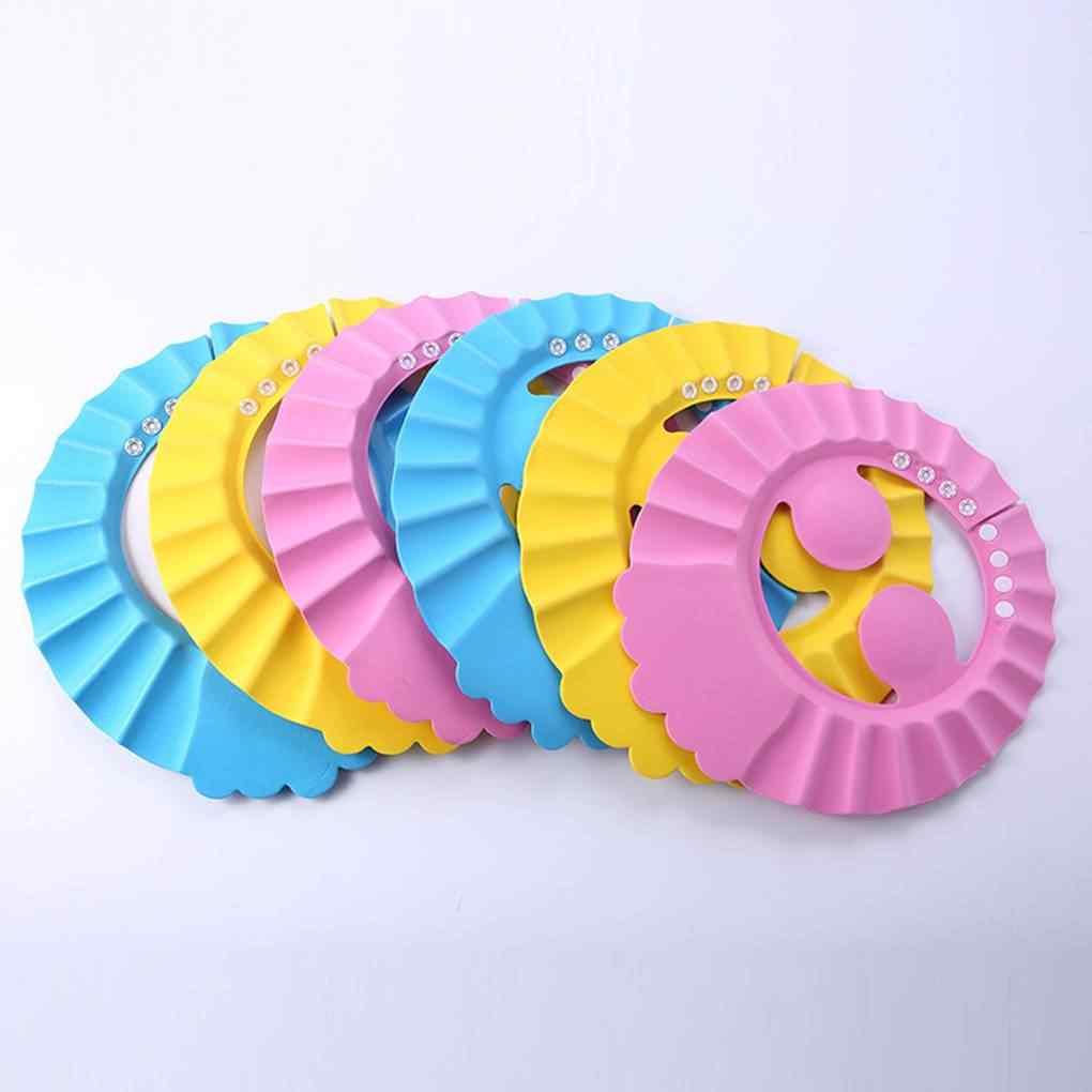 Gorros de ducha de bebé gorro de champú para lavar el pelo niños visera de baño sombreros escudo ajustable impermeable protección de los oídos ojos niños sombreros infantiles