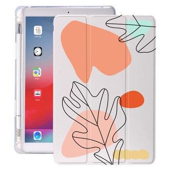 Malarstwo abstrakcyjne dla Air 4 iPad Case 12.9 Pro 11 2018 uchwyt na ołówek 10.2 7th 2020 8th Mini 5 pokrywa silikonowa dla 10.5 Air 1 2 3