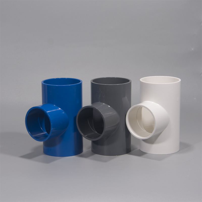 PVC Reducing T-connector Water Supply Pipe Fitting 63 110 Reducing Tee Joint German Plastic Factory Price Wholesale Direct Selli