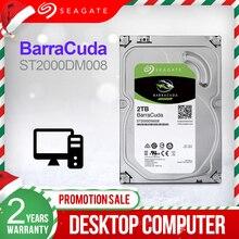 Seagate 2 TB 3.5 Desktop HDD Interno Hard Disk Drive Originale 2 TB 7200RPM SATA 6 Gb/s Hard drive Per rigido Del Computer ST2000DM008