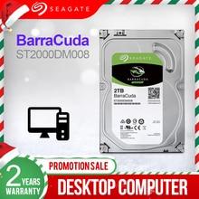 Seagate disco rígido interno 2 tb, 3.5 desktop hdd unidade de disco rígido original 2 tb 7200rpm sata 6 gb/s unidade para o computador st2000dm008,