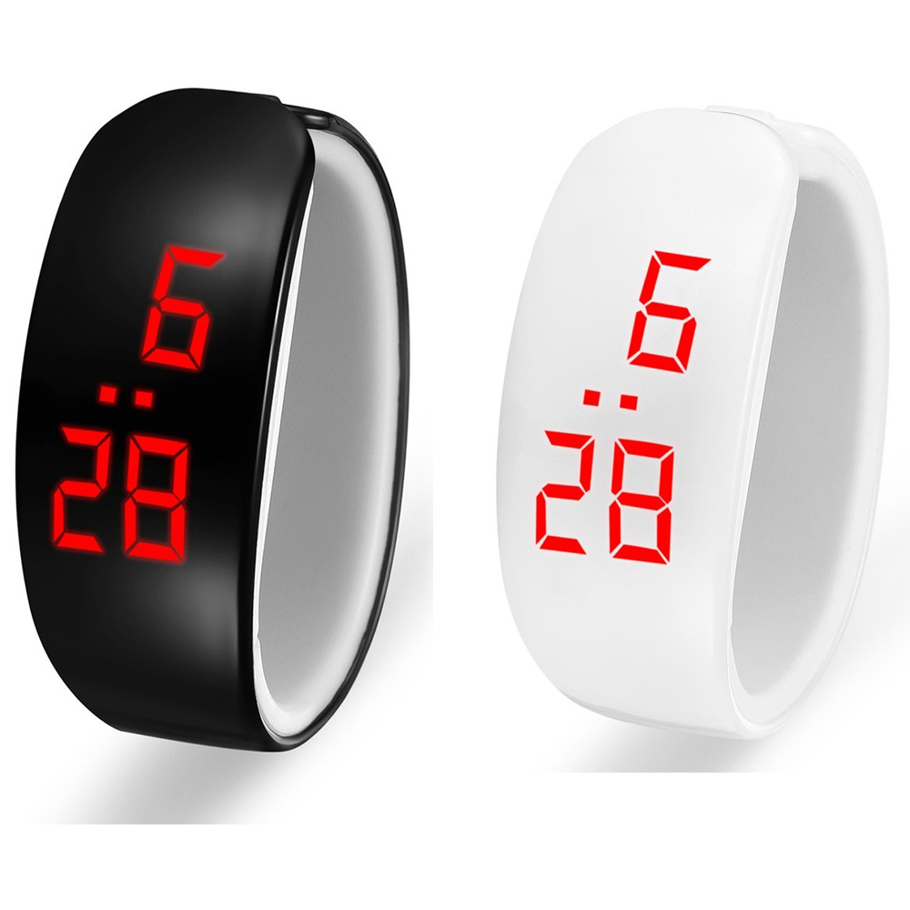 White Digital Watch Small Silicone Strap Men And Women Watches Quartz Wristwatch Student LED Watch Male And Femal Clock Relogio
