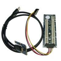 Mini PCIe Naar 2 PCI slots adapter voor mini ITX mini Pci E naar PCI riser card voor Geluid  netwerk  grafische kaart|pci slot adapter|mini pcie2 pci slots -