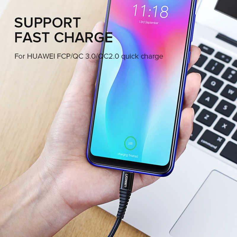 UGREEN USB Type Cสายเคเบิล 3A Quick CHARGINGสำหรับSamsung S9 Xiaomi USB Cเครื่องชาร์จโทรศัพท์สายไฟสายUSB Type-C