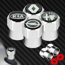 4 Uds rueda de coche neumáticos válvulas de neumáticos tapas para S Audi A3 A4 A4L A6L TT Q3 Q5 Q7 A5 A7 S3 S4 S5 S6 S8 RS3 RS4 RS5 RS6 de Gadget