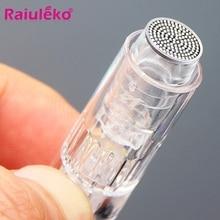 Derma ferramentas nano agulha tatuagem microneedles 5 pces porta baioneta/parafuso porta substituição do cartucho para máquina elétrica micro agulha
