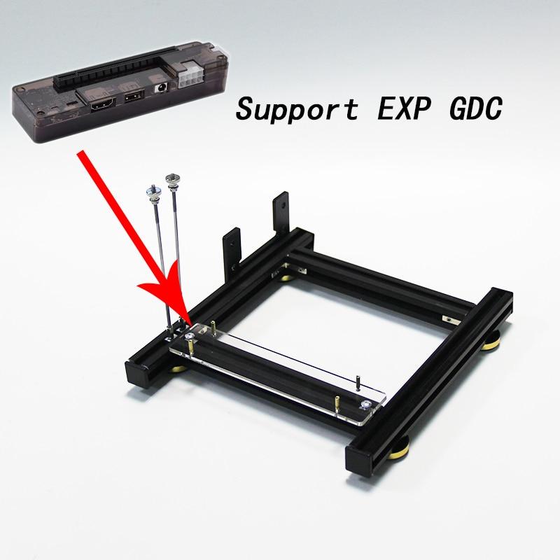 Graphics card holder DIY external graphics card base with power base for ATX SFX PSU  aluminum