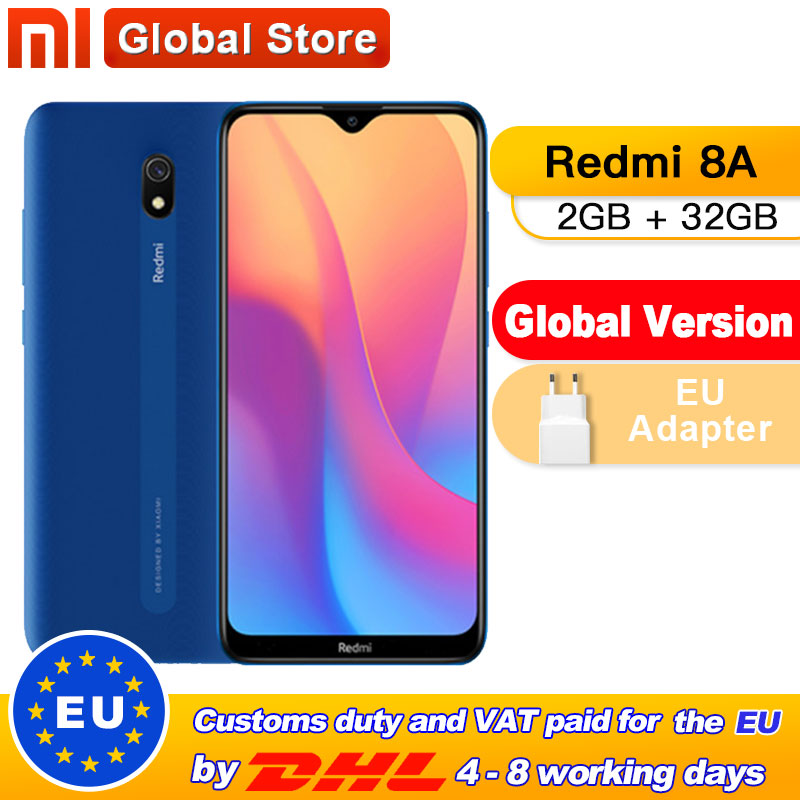 "Global Version Xiaomi Redmi 8A 2GB 32GB Mobile Phone Snapdragon 439 Octa Core 6.22"" 5000mAh 12MP Camera Smartphone(China)"