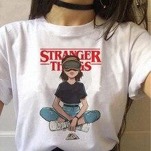 Stranger Things season 3 T Shirt Women Upside Down Tshirt Eleven Female Graphic