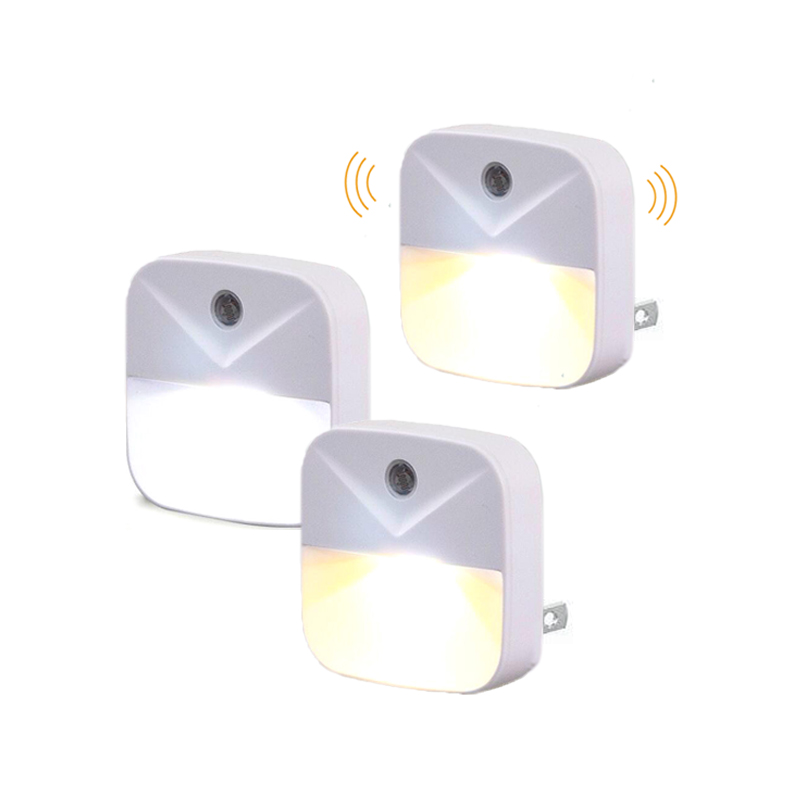 Plug In Night Light Mini Auto Light Sensor Control EU US Plug Wireless Energy Saving Lighting Children Bedroom Wall Lamp