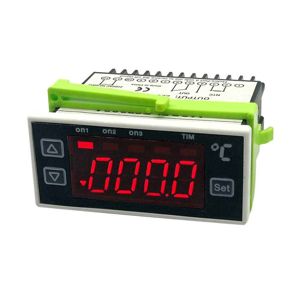 Thermostat TC7028D 220V Refrigerator Freezer Temperature Controller Warm Cooling Two Function Option Alarm Output