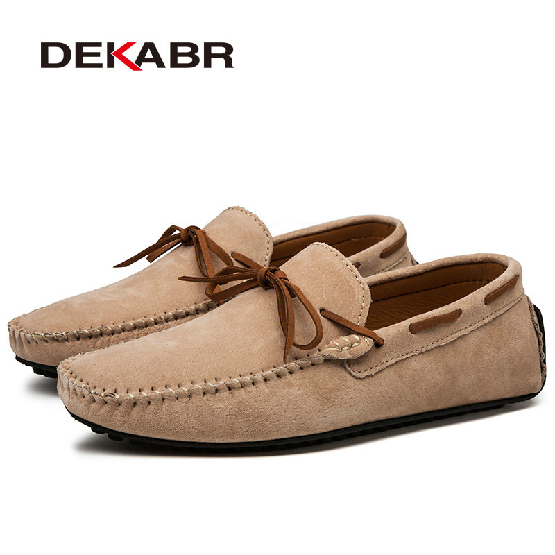 Casual Men Genuine Leather Shoes Summer Breathable Green Mens Loafers Leather Shoes Sapato Masculino Zapatos Hombre