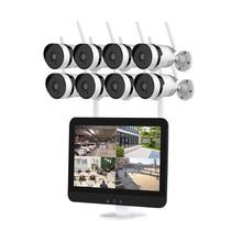 Video surveillance home video wireless monitoring set camera 8 channel NVR 12.5 inch display monitoring 1080P surveillance set
