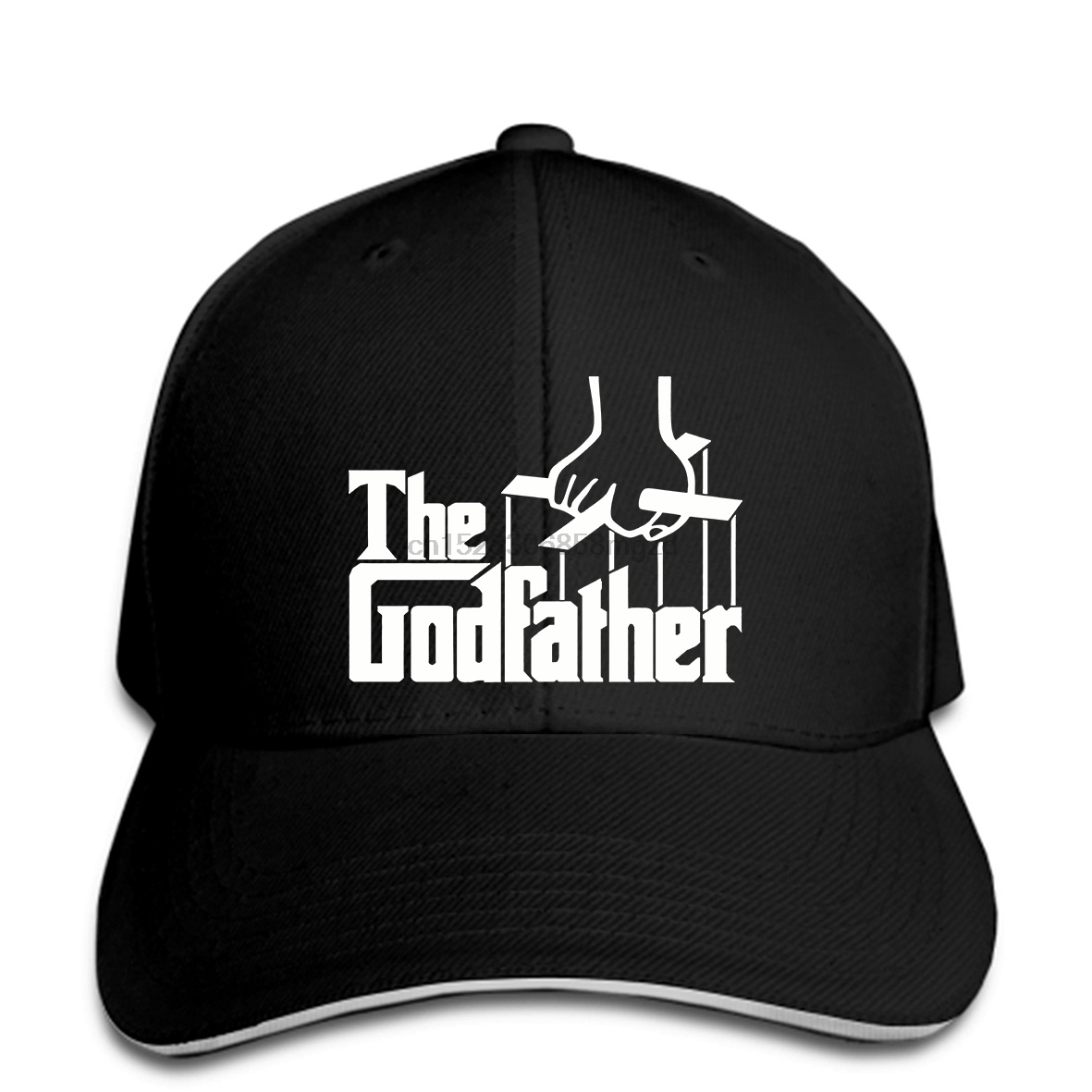 The Father Godfather Parody Movie Fathers Day Funny Gift Graphic Men Baseball Cap Snapback Cap Women Hat Peaked image