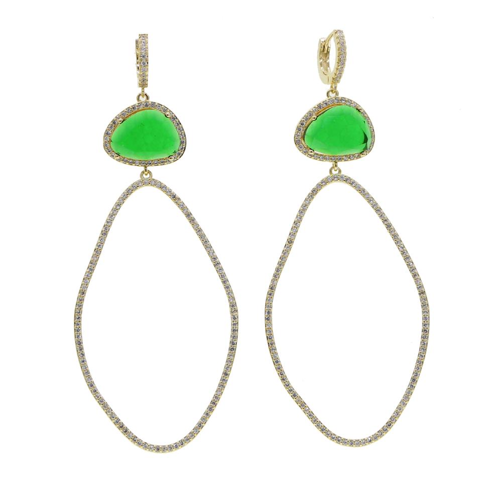 BRASS drop earring Y (3)