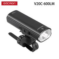 Gaciron 600 lumen luce anteriore per bicicletta impermeabile notte ciclismo torcia carica USB lampada manubrio MTB torcia di sicurezza per bici da strada