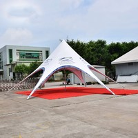 10m Diameter Trade Show Star Tent PVC and Aluminum Gazebo for Outdoor Advertisement Promotion Party Wedding Event Marquee Tents