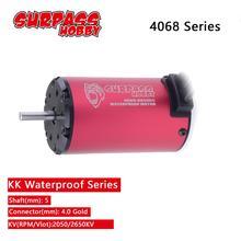 Surpasshobby kk impermeável 4068 5.0mm motor sem escova 2050kv 2650kv para rc 1/8 drift corrida fora estrada carro de escalada