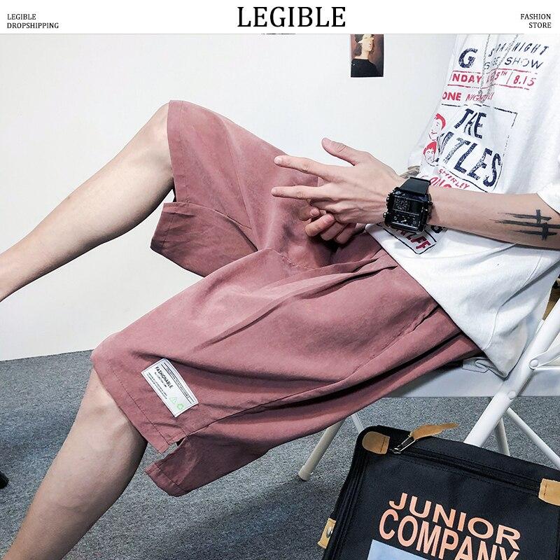 LEGIBLE 2020 Summer Mens Shorts Casual Solid Korean Shorts Male Loose Short Homme Brand Clothing Men's Shorts
