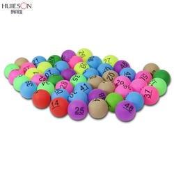 100 шт./упак. Huieson 1-100 Номера шарики для пинг-понга ABS Пластик шарик для настольного тенниса для лотереи развлечений шарики