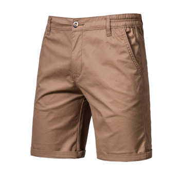 2020 New Summer Shorts Men Cotton Knee Length Solid Beach Shorts Vintage Casual Men Shorts Fashion Masculina