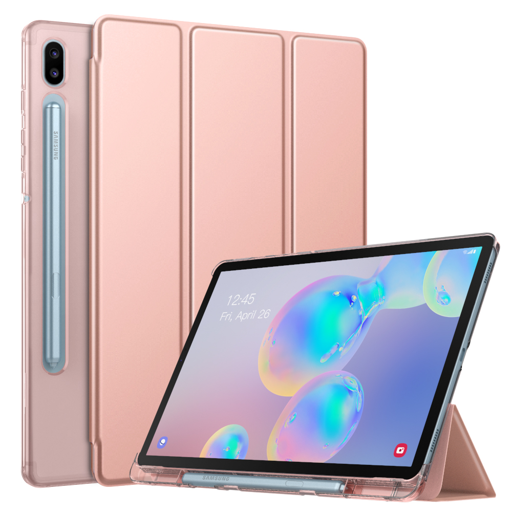Case For Samsung Galaxy Tab S6 10.5 2019,Ultra Thin Slim Shell Trifold Stand Cover With Frosted Back With Auto Wake & Sleep