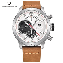 цена на Relogio masculino PAGANI DESIGN men watch top brand Luxury chronograph waterproof Quartz leather watches Military Sport Watch