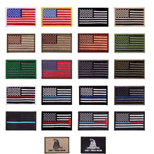 (20styles)American Flag Embroidered Patch Gold Border USA United States of America Military Uniform Emblem DIY Magic Poster