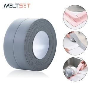 3.2m Kitchen Sink Sealing Strip Tape Bathroom Shower Waterproof Mouldproof Tape Self adhesive Wall Sticker for Kitchen Bathroom
