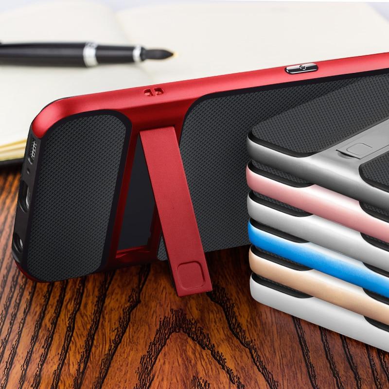 Marka Yeni 3D Hibrid Vaka Samsung Galaxy S7 Kickstand Silikon Kapak - Cep Telefonu Yedek Parça ve Aksesuarları - Fotoğraf 4
